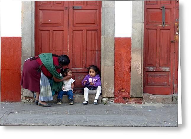 Ice Cream Treat In Patzcuaro Greeting Card