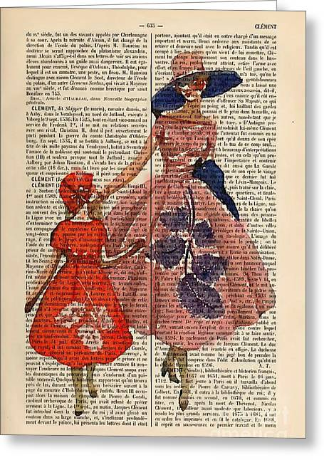 Mother And Daughter Fashion Greeting Card by Flash28photography