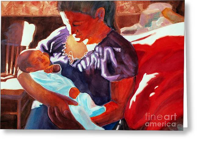 Mother And Newborn Child Greeting Card