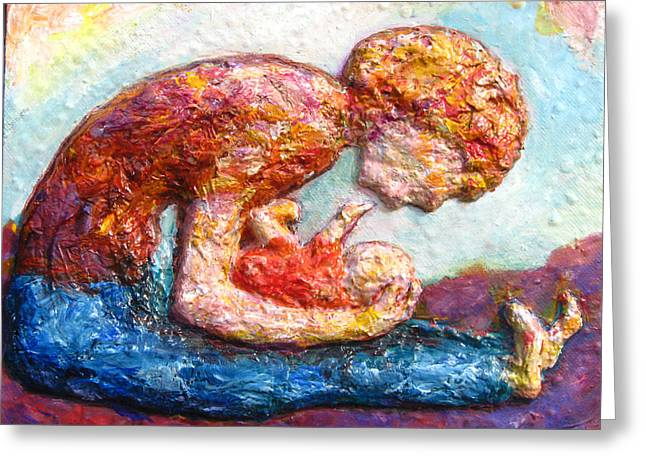 Mother Bonding II Greeting Card by Naomi Gerrard