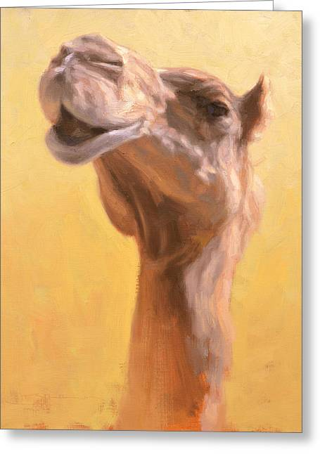 Mother Camel Greeting Card by Ben Hubbard