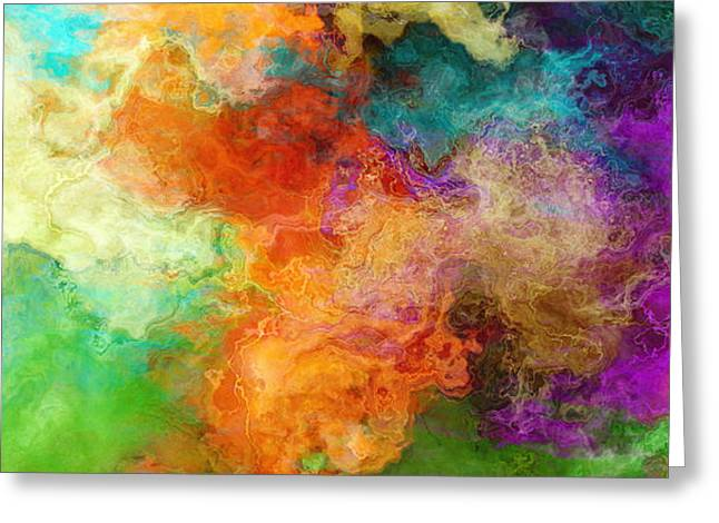 Mother Earth - Abstract Art Greeting Card by Jaison Cianelli