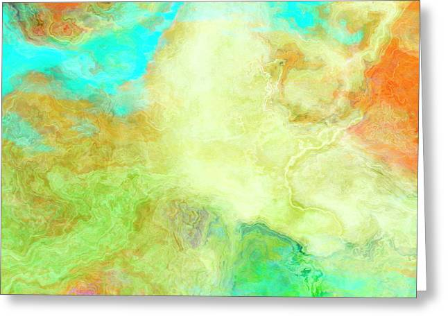Mother Earth - Abstract Art - Triptych 1 Of 3 Greeting Card
