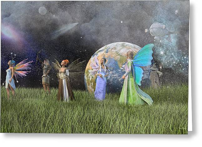Mother Earth Series Plate1 Greeting Card