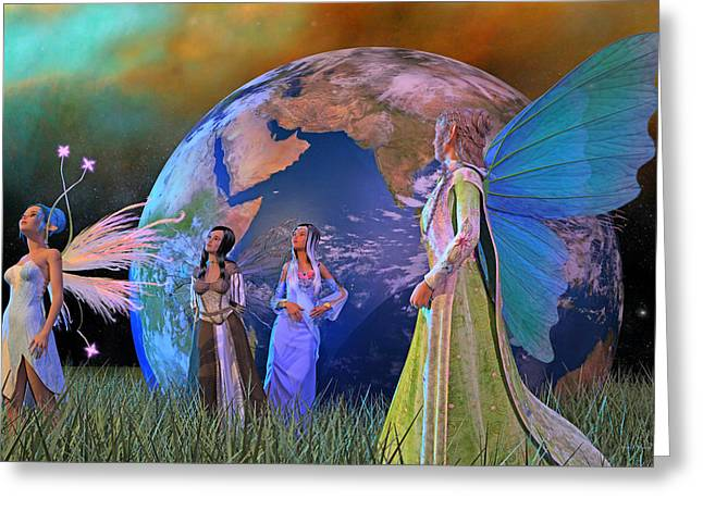 Mother Earth Series Plate5 Greeting Card by Betsy Knapp