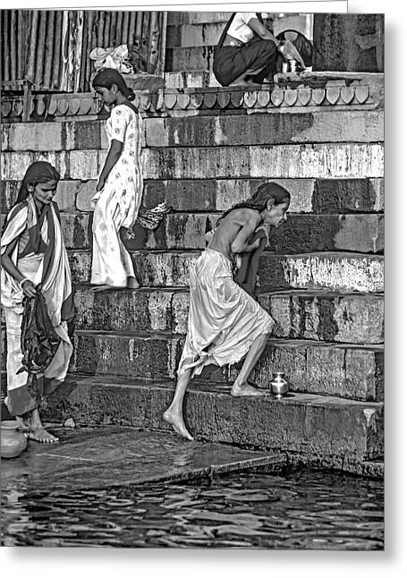 Mother Ganges Monochrome Greeting Card