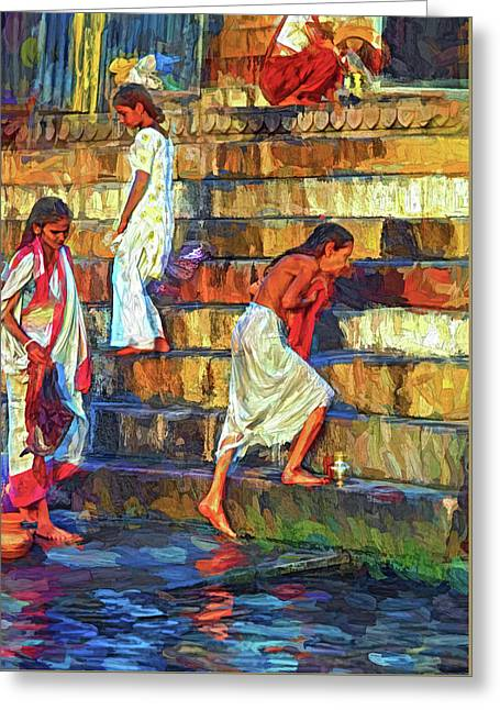 Mother Ganges - Paint 2 Greeting Card