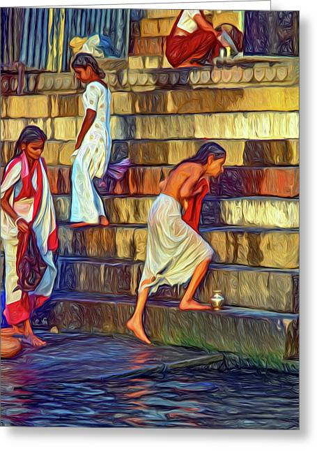 Mother Ganges - Paint Greeting Card