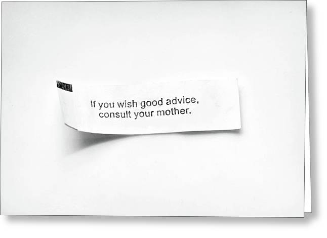 Mother Good Advice Fortune Greeting Card