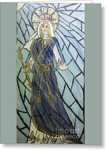 Mother Mary Queen Of Our Battle Greeting Card