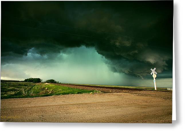 Mother Nature Arrives By Rail Greeting Card