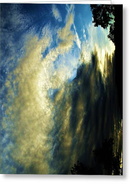 Mother Nature In Clouds Greeting Card by SeVen Sumet