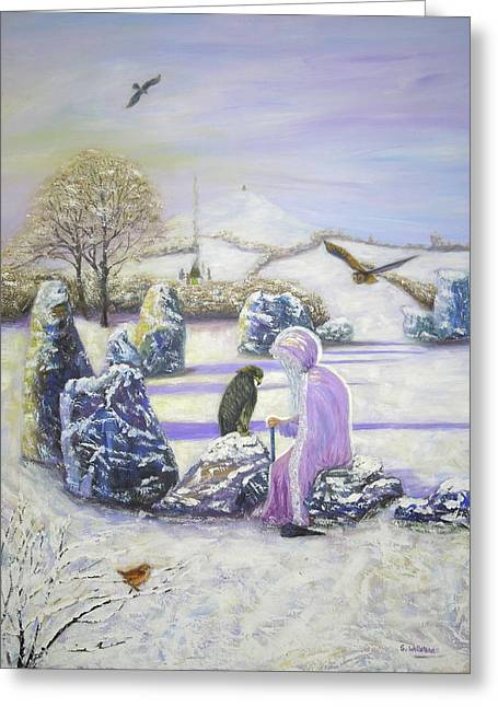 Mother Of Air Goddess Danu - Winter Solstice Greeting Card