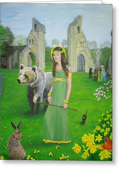 Mother Of Fire Goddess Artha - Spring Equinox Greeting Card