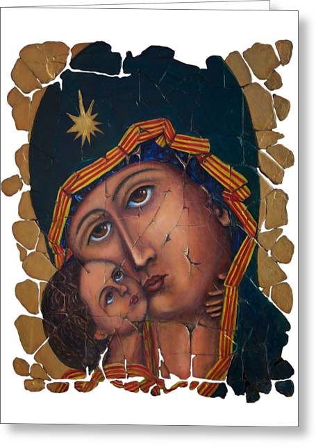 Mother Of God By Lena Owens Greeting Card