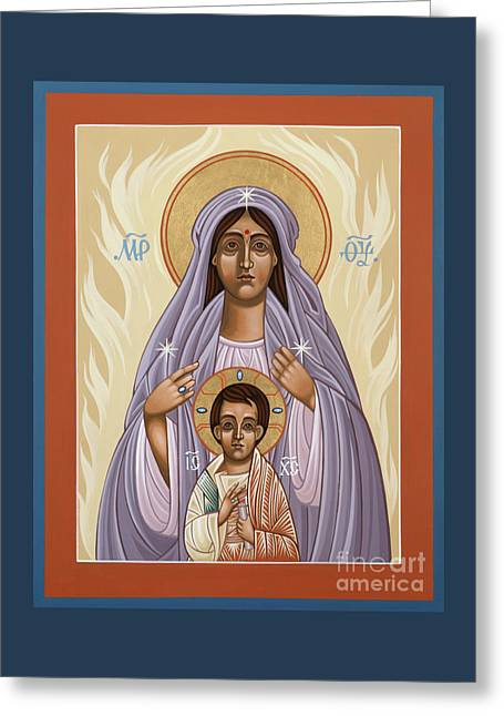 Mother Of God Cenacle Of The New Pentecost 146 Greeting Card