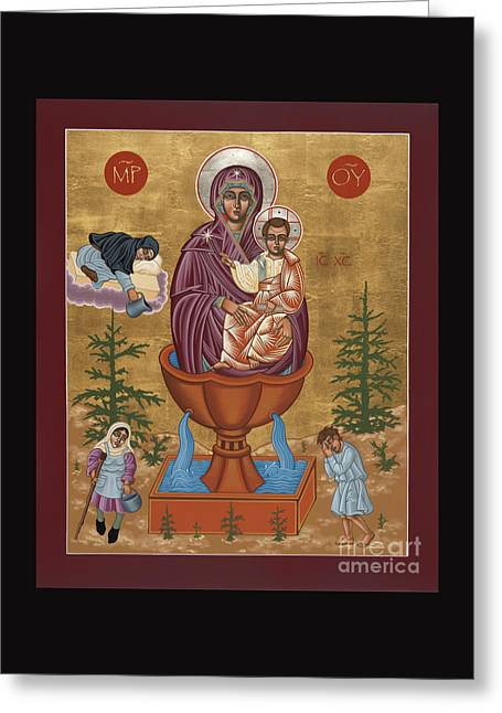 Greeting Card featuring the painting Mother Of God Life Giving Spring 179 by William Hart McNichols