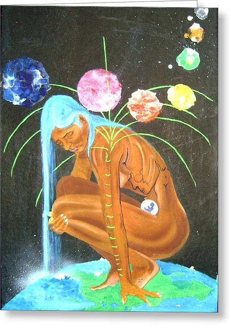 Mother Of Life Greeting Card by Neg Ayiti