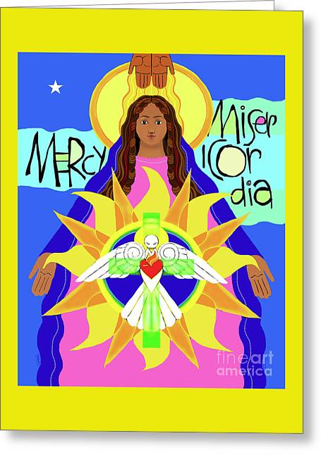 Mother Of Mercy - Mmmcy Greeting Card