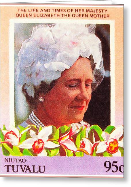 Mother Of Queen Elizabeth Greeting Card by Lanjee Chee
