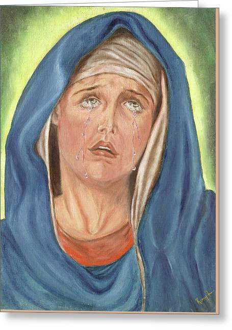 Mother Of Sorrow - Mater Dolorosa Greeting Card by Remy Francis
