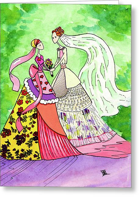 Mother Of The Bride Greeting Card by Dawnstarstudios