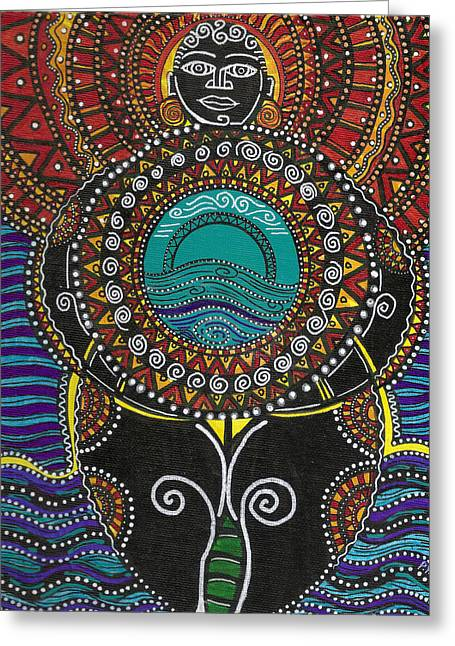 African-american Greeting Cards - Mother Of The First World Greeting Card by Perrion Hurd