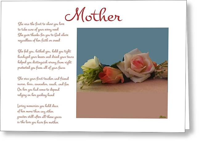 Mother Greeting Card by Pharris Art