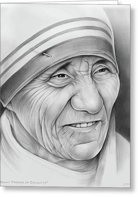 Mother Teresa Greeting Card by Greg Joens