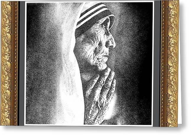Mother Teresa Greeting Card by Sai Parikshath