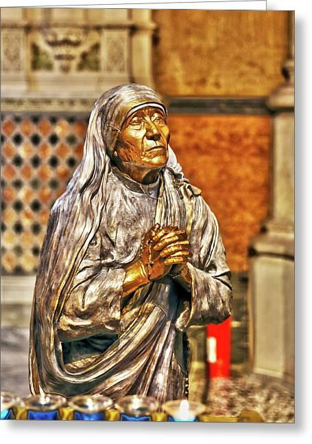 Mother Teresa St Francis Church Greeting Card by Brett Wiatre