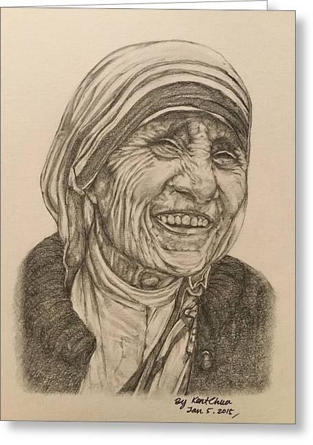 Mother Theresa Kindness Greeting Card by Kent Chua