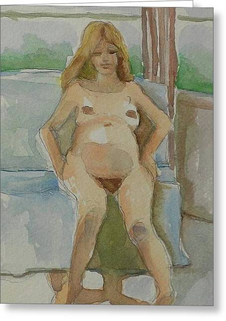 Mother-to-be Greeting Card by Janet Butler