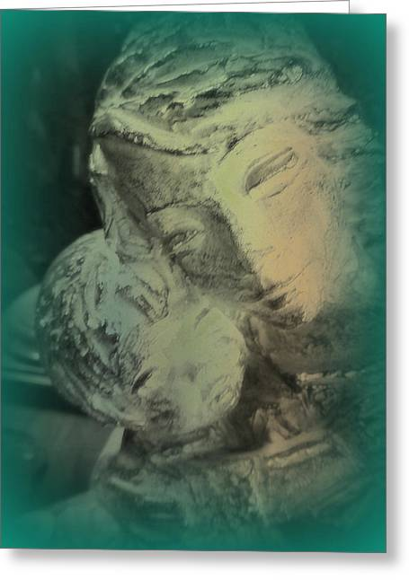 Mother With Infant Greeting Card by Lori Seaman