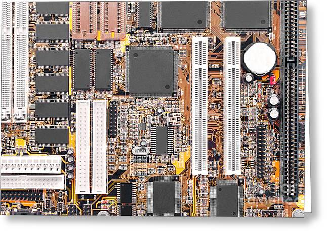 Motherboard Greeting Card by Cristian M Vela