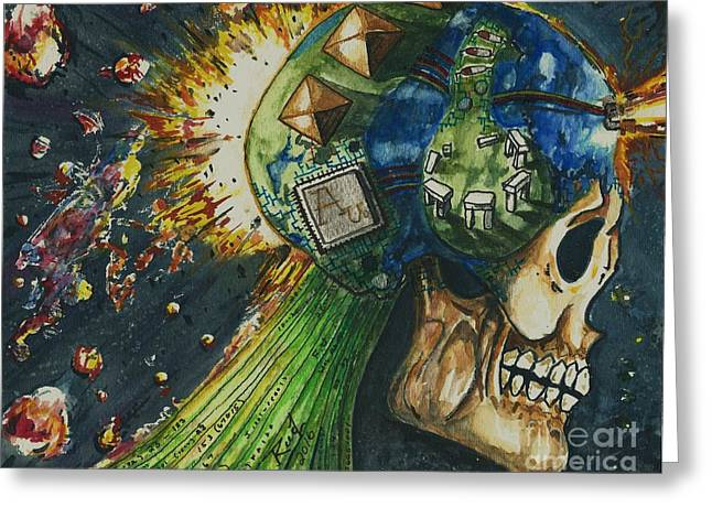 Motherboard Greeting Card by Reed Novotny
