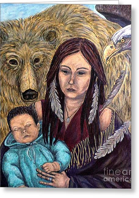 Motherhood-guardian Spirits Greeting Card