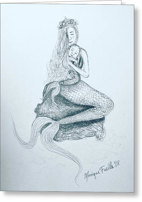 Motherhood Mermaid Greeting Card