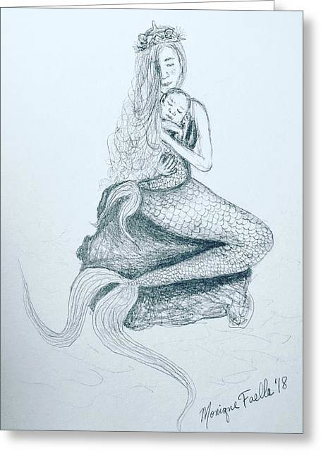 Motherhood Mermaid Greeting Card