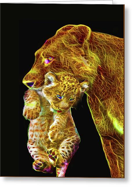 Motherly Love Greeting Card by Michael Durst