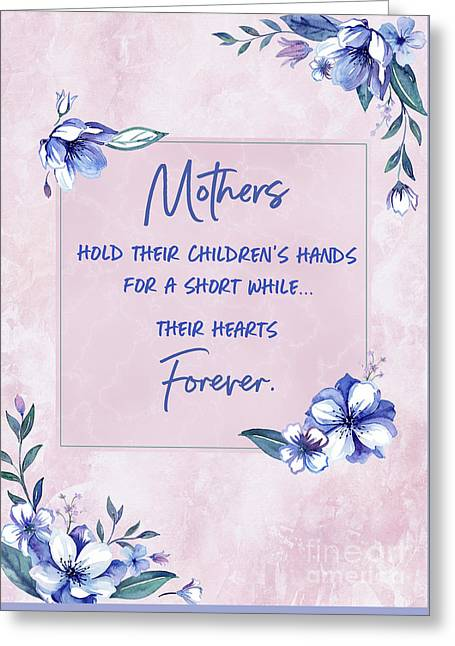 Mothers And Their Children Greeting Card