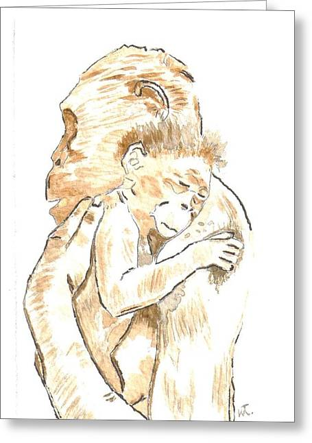 Mothers Arms Greeting Card by Warren Thompson