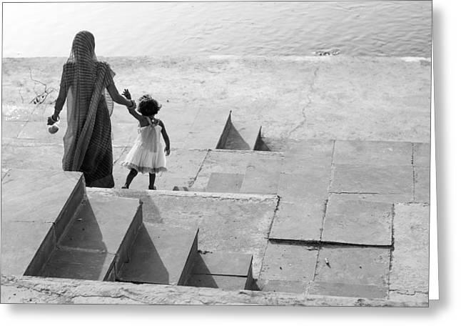 Mothers Love Greeting Card by Prakash Ghai