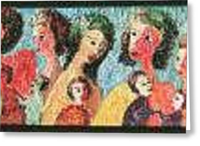 Mothers Mothering Greeting Card by Naomi Gerrard