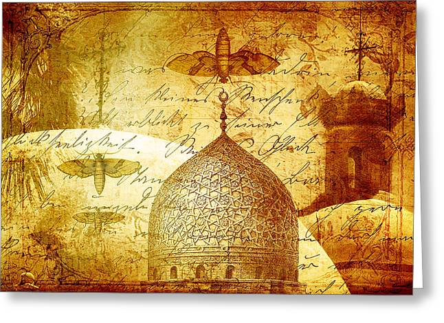 Moths And Mosques Greeting Card by Tammy Wetzel