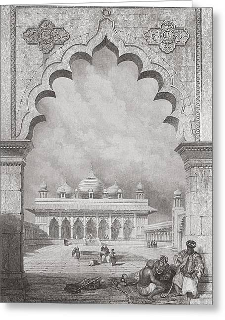 Moti Musjid Or Pearl Mosque Greeting Card by David Roberts