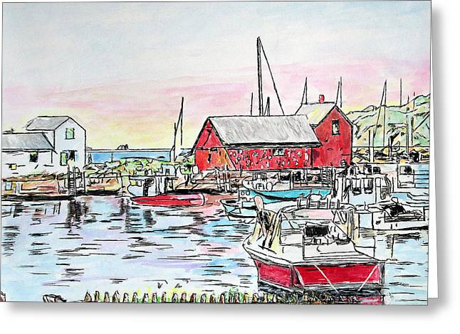 Motif #1 Rockport, Massachusetts Greeting Card