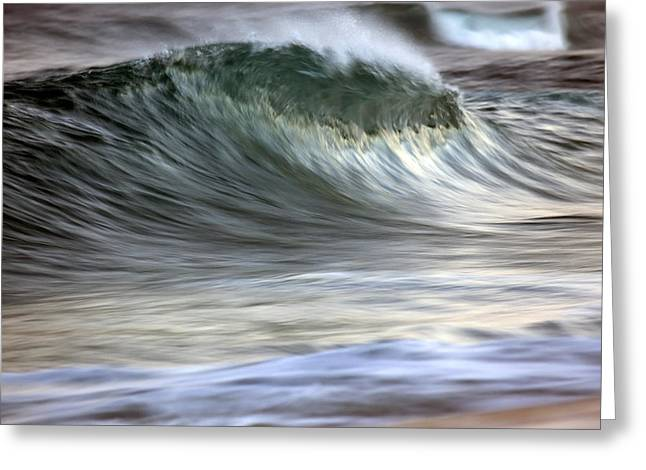 Motion Blur Of Breaking Wave  Hawaii Greeting Card by Vince Cavataio