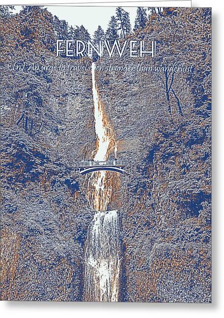 Motivational Travel Poster - Fernweh 2 Greeting Card