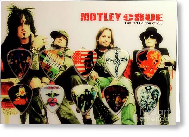 Motley Crew Picks Greeting Card by Anthony Djordjevic